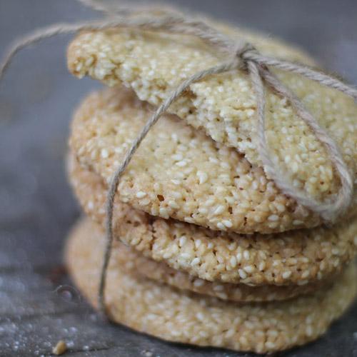 печенье кунжутное